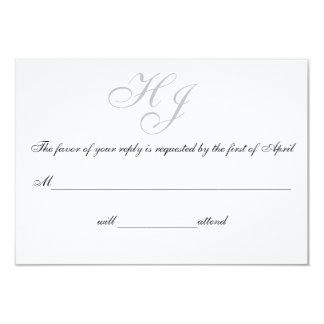 """Initials"" Response/Reply Cards 9 Cm X 13 Cm Invitation Card"