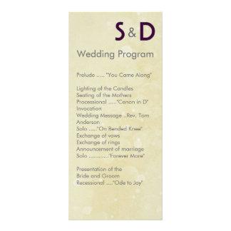 Initials Wedding Programs Rack Card