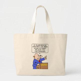 inject religion blasphemous vote campaign canvas bags