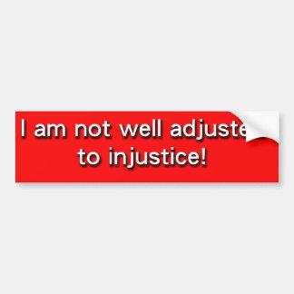 injustice bumper sticker