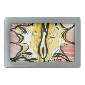 Ink and Pink Rectangular Belt Buckle