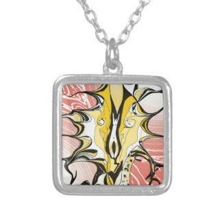 Ink and Pink Silver Plated Necklace