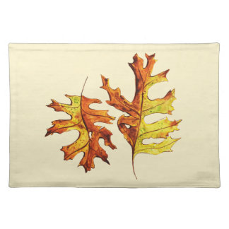 Ink And Watercolor Painted Dancing Autumn Leaves Placemat