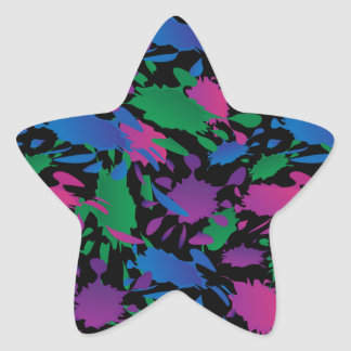 ink blots 2 star sticker