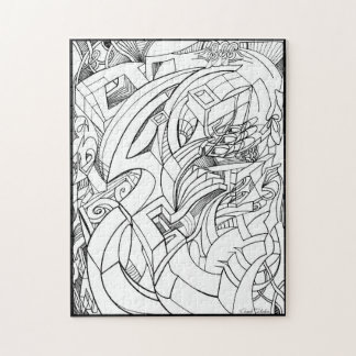 Ink drawing puzzle