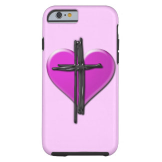 Ink Heart & Cross Case Tough iPhone 6 Case