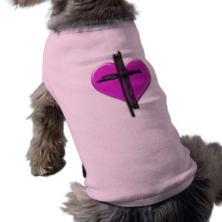 Ink Heart & Cross Dog Shirt