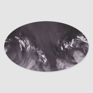 Ink in Water Abstract Photograph Oval Stickers