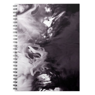 Ink in Water Photograph Ying Yang inspired Notebook