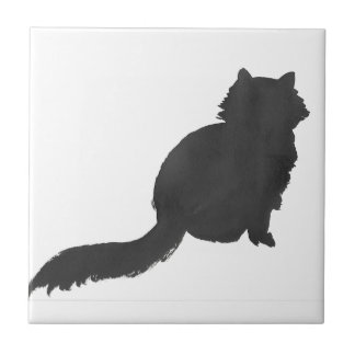 Ink Kitty Ceramic Tile