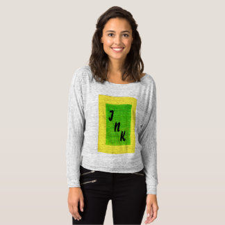 INK Lady T-shirt, long sleeves, yellow and green. T-Shirt