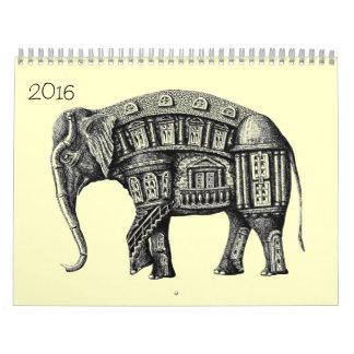 Ink pen drawings 2016 calendar
