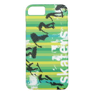 Ink Sketch of Skateboarder Progressive Jump iPhone 7 Case
