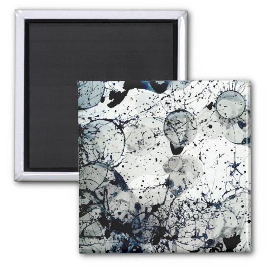 Ink Splatter Abstract Art Magnet