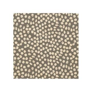 Ink Spot - Charcoal/White / Andrea Lauren Wood Canvas