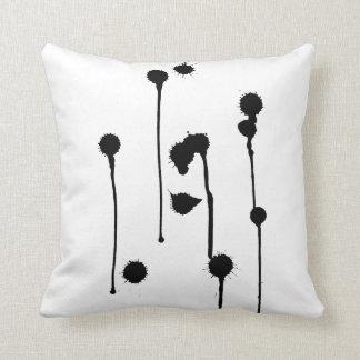 Ink Spots Throw Pillow