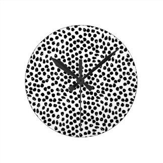 Ink Spots - White/Black / Andrea Lauren Wall Clocks