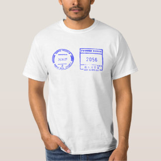 ink stamp post large New York e-mail central stati T-Shirt