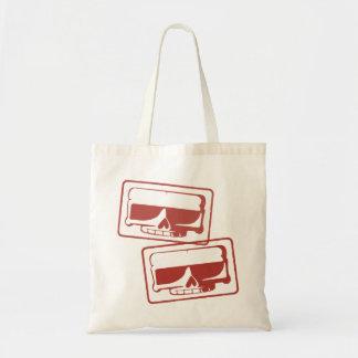 Ink Stamp Skull Grocery Bag