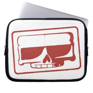 Ink Stamp Skull Laptop Sleeve