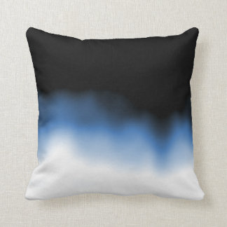 Inkblot Ombre Blue Cushion