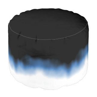 Inkblot Ombre Blue Pouf
