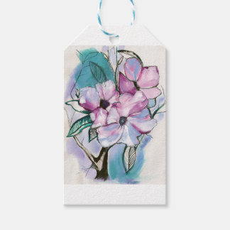Inked Flowers Gift Tags