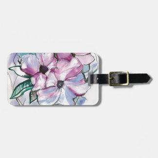Inked Flowers Luggage Tag