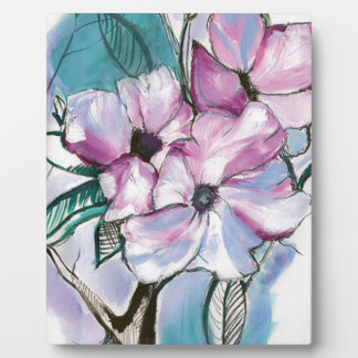 Inked Flowers Plaque