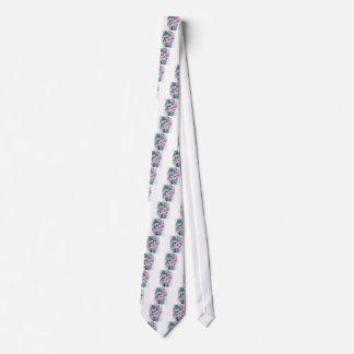 Inked Flowers Tie
