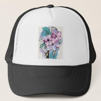 Inked Flowers Trucker Hat