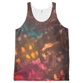 Inked grunge All-Over print singlet