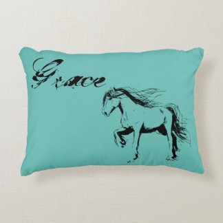 Inked Horse Accent Pillow