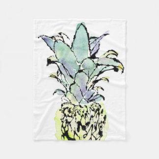 Inked Pineapple Fleece Blanket
