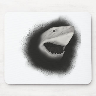 Inked Shark Attack Mouse Pad
