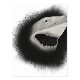 Inked Shark Attack Postcard