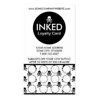INKED skulls stamp card Pack Of Standard Business Cards