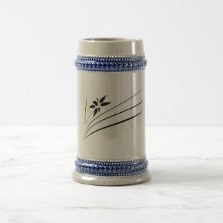 inkpaint flower beer stein