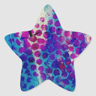 Inky Abstract Star Sticker