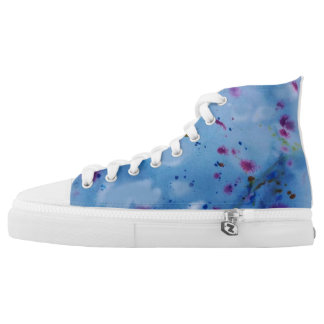 Inky blue printed shoes