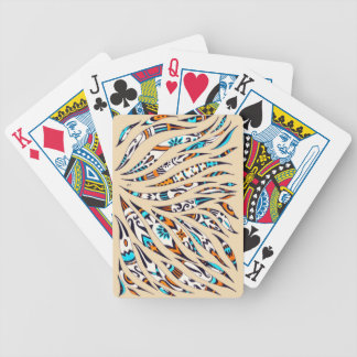 Inky Funky Pattern Art Beige Bicycle Playing Cards