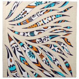 Inky Funky Pattern Art Beige Napkin