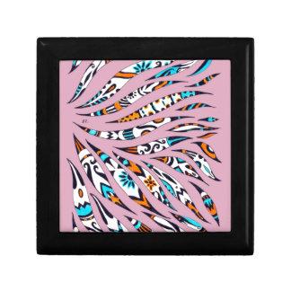 Inky Funky Pattern Art Pink Gift Box