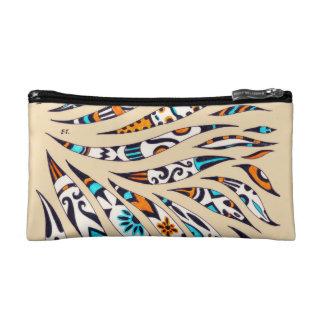 Inky Funky pattern beige Cosmetic Bag