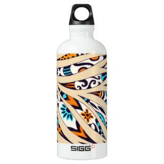 Inky Funky pattern beige Water Bottle