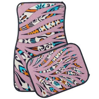 Inky Funky Pattern Scribble Pink Car Mat