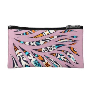Inky Funky Pattern Scribble Pink Cosmetic Bag