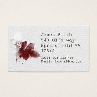 inky leaf business cards