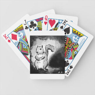 Inky Squirrel Bicycle Playing Cards