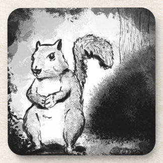 Inky Squirrel Coaster
